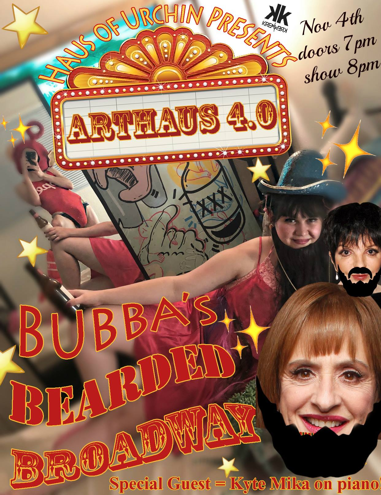 Art Haus 4.0: Bubba's Bearded Broadway Tickets | Kremwerk ...